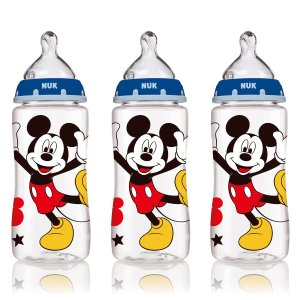 NUK® Bottle with Perfect Fit™ Nipple, Disney® Mickey Mouse Medium Flow 10 Ounce, 3 Pack