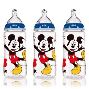 NUK买一件第二件4折婴儿米奇奶瓶3个 10oz