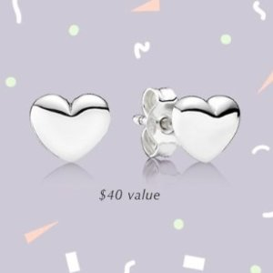 Last Day: Receive a FREE Pair of EarringsWhen you spend $125 @ PANDORA Jewelry