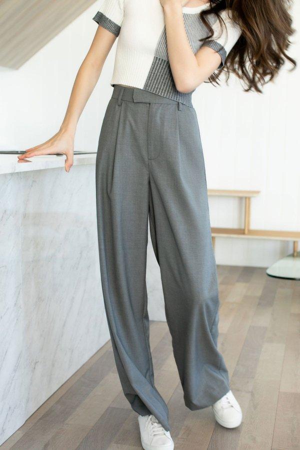 Business Essential Grey 阔腿裤