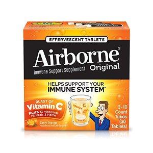 $5.58 包邮Airborne 1000mg 维生素C泡腾片 30粒 2种口味可选