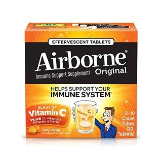 $8.83 包邮Airborne 1000mg 维生素C泡腾片 30粒 柳橙味