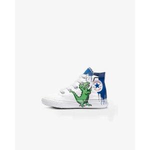 婴幼儿恐龙高帮帆布鞋