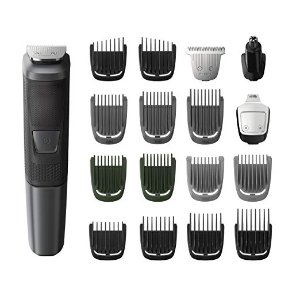$29.95Philips Norelco Multi Groomer MG5760/40-18 piece, beard, body, face, nose, and ear hair trimmer and clipper w/storage case