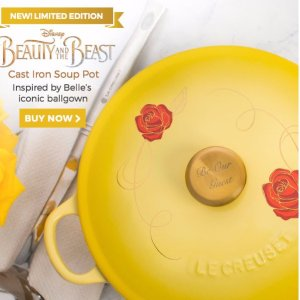 Back in Stock + New ColorLimited Edition: Disney Beautiy and the Beast Cast Iron Soup Pot @ Le Creuset