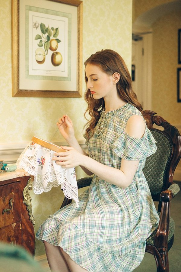 Rita 格纹连衣裙