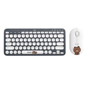 Logitech布朗熊K380键盘鼠标套装