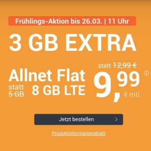 月租€9.99 带号入网送10欧送3GB+免接通费 包月所有电话/短信+8GB上网+欧盟漫游