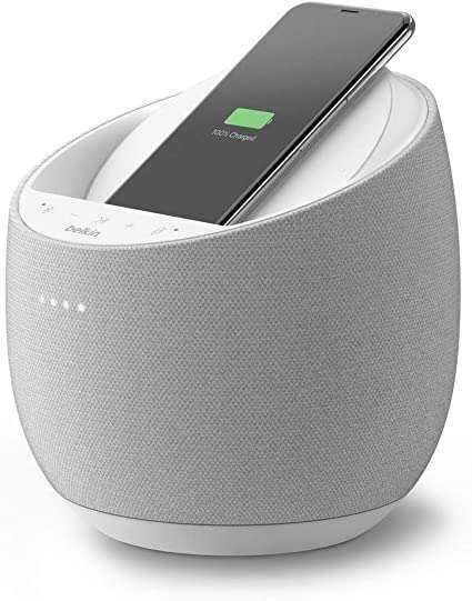 SoundForm Elite Hi-Fi Smart Speaker + Wireless Charger (Voice-Controlled Bluetooth Speaker) Sound Technology By Devialet (White)