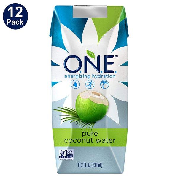 O.N.E. 100% 纯椰子水 11.2oz. 12瓶