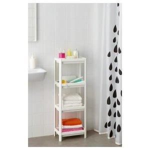 IkeaVESKEN Shelf unit, white, 14 1/8x9x39 3/8