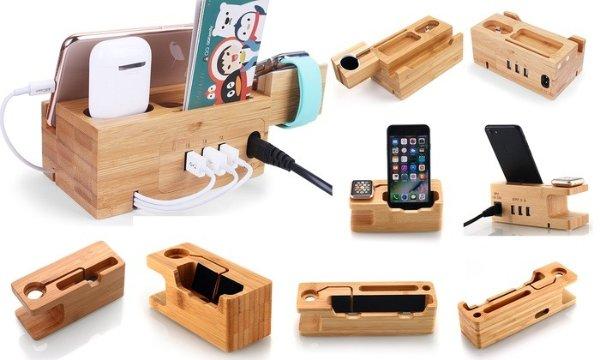 竹制苹果设备充电底座 多款可选