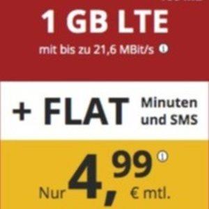 每月可解约 代号入网再送10欧德国新生首选:特价+免接通费 包月电话/短信+1GB高速流量€4.99