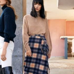 无门槛9折 $45收封面款半身裙H&M 新款保暖又时髦秋装抢鲜热卖