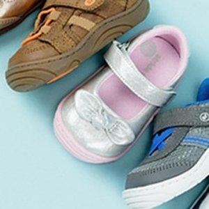 减$5 退货免运费Stride Rite 早春新款童鞋促销 大部分款式有两个宽度可选