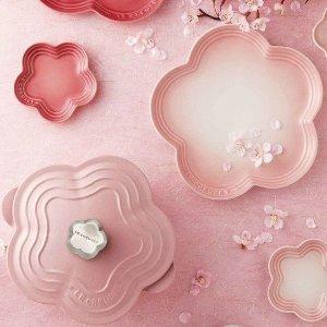 已发售 售价$199上新:Le Creuset 樱花料理锅 粉色软萌少女心 磨砂质感更高级