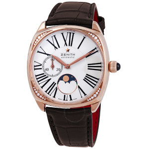 Extra $3000 OffZenith Moonphase 18kt Rose Gold Ladies Watch
