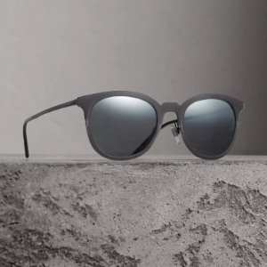 ea694b93c2cfb BURBERRY Grey Round Sunglasses BE3093-10575V-52 Extra  20 off - Dealmoon