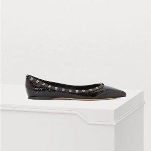 ValentinoGaravani 铆钉芭蕾鞋