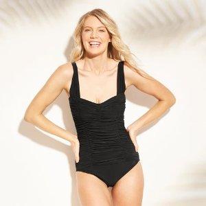 e22c11564 buy 1 get 1 50% OffWomen's Shirred One Piece Swimsuit - Aqua Green®