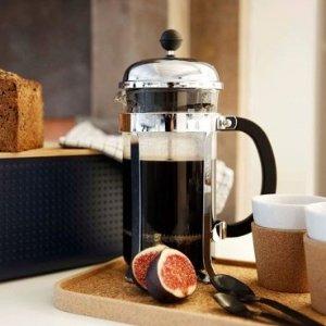 $10.99(原价$19.99)史低价:Bodum 丹麦超人气咖啡壶小号,法压壶界的巨星