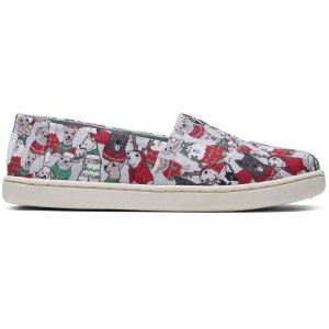 TomsGlacier Grey Sweater Dogs Print Youth Classics | TOMS