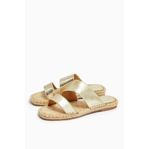 TopshopHANNAH Gold Espadrille Sandals