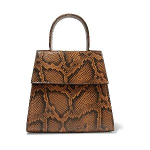 by FARMonet snake-effect leather tote