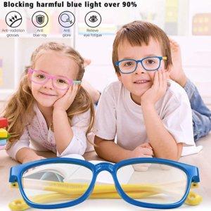$9.95(原价$19.99)白菜价:KinCam 儿童防蓝光眼镜、防眩晕,轻松保护宝宝眼睛不近视