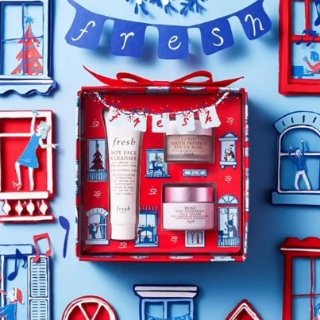 无门槛9折 或 满£75送明星面膜3件套上新:fresh 限量圣诞礼盒来袭 高颜值天然护肤甜心