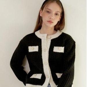 3折起+额外9折 €81收封面款W Concept 新品韩风针织衫大促 必备小香风、学院风都有