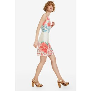 DesigualFloral Short Fitted Dress - Yaquel | Desigual.com