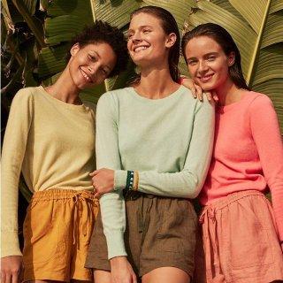低至3折 柔软舒适+保暖升级Gilt 精选 女士羊绒开衫,羊绒打底衫热卖