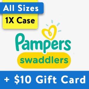 Pampers送$20礼卡Swaddlers 纸尿裤