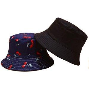 樱桃双面渔夫帽