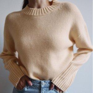 4.5折起 £22收针织上衣上新:COS 早秋毛衣专场 收糖果色针织衫、温柔毛衣