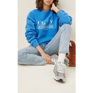 Health and Wellness Cotton Jersey Sweatshirt