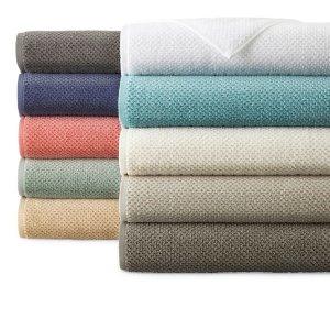 Quick Dri Textured Solid Bath Towels @ JCPenny