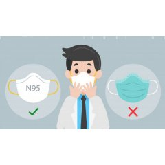 N95口罩,医用外科口罩,预防新型冠状病毒肺炎哪种口罩最有效?口罩正确佩戴方式一贴详解。