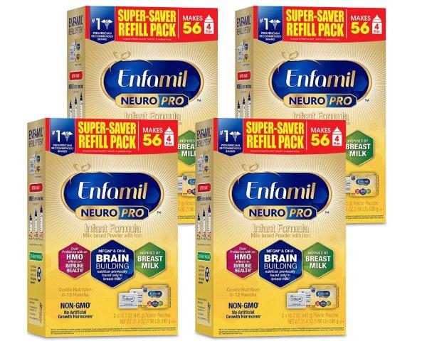 最新版NeuroPro婴儿配方奶粉 31.4盎司,4罐