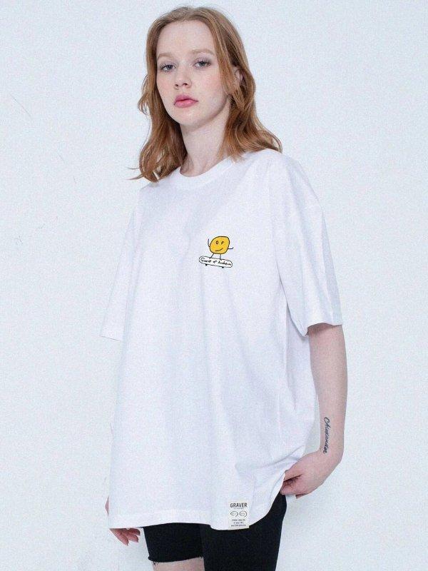 白色笑脸T恤