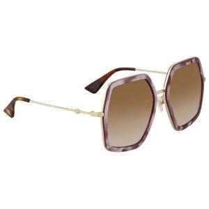 3ddaff2f7af Gucci Grey Gradient Round Sunglasses. GucciBrown Gradient Square Ladies  Sunglasses GG 0106S 004