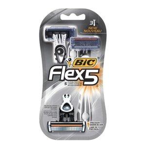 $6.20 (原价$9.99)闪购:BIC Flex 5男士一次性剃须刀 3个
