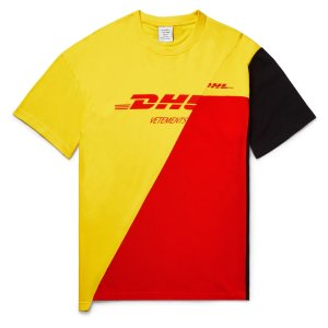 Vetements- + DHL Printed Cotton-Jersey and Pique T-Shirt