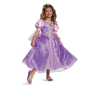$19.85(原价$85.14) 万圣节我要做公主~Disguise 迪士尼长发公主裙,中号/7-8