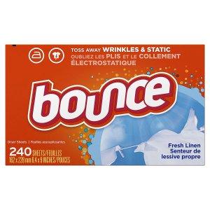 $3.74 (原价$8.94)白菜价:Bounce 清香衣物烘干纸240张