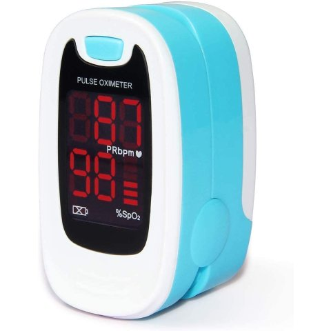 CONTEC CMS50M Fingertip Pulse Oximeter Blood Oxygen Saturation Monitor with lanyard