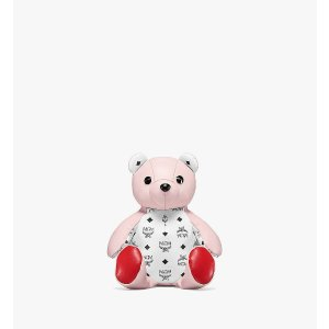 MCMZoo Bear Backpack in Visetos Leather Mix