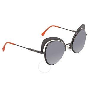 FendiEyeshine Grey Gradient Cat Eye Ladies Sunglasses FF 0247/S 807/9O