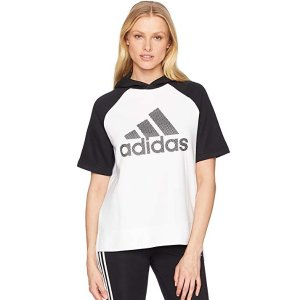 $8.55起adidas女款休闲运动短袖帽衫